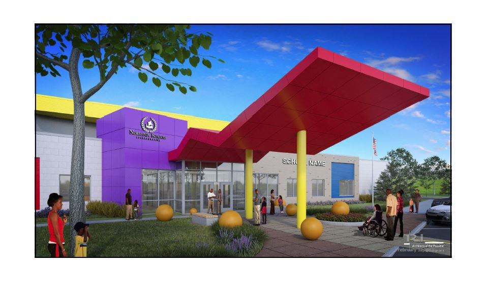 artist's rendering of new early learning center