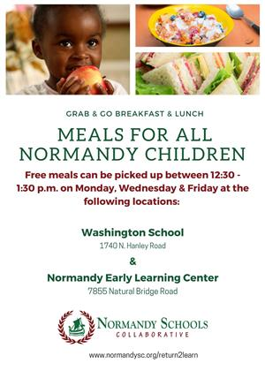 normandy grab and go meals available for all students