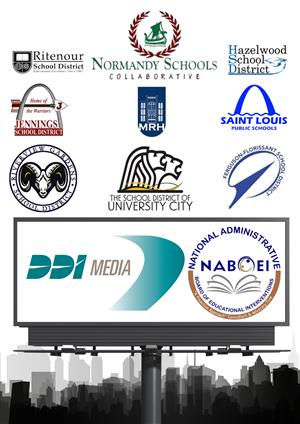 logos for 9 area school districts & DDI media