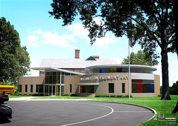 artist's rendering of washington elementary addition